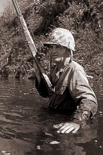 Jungle Warfare. stock photo