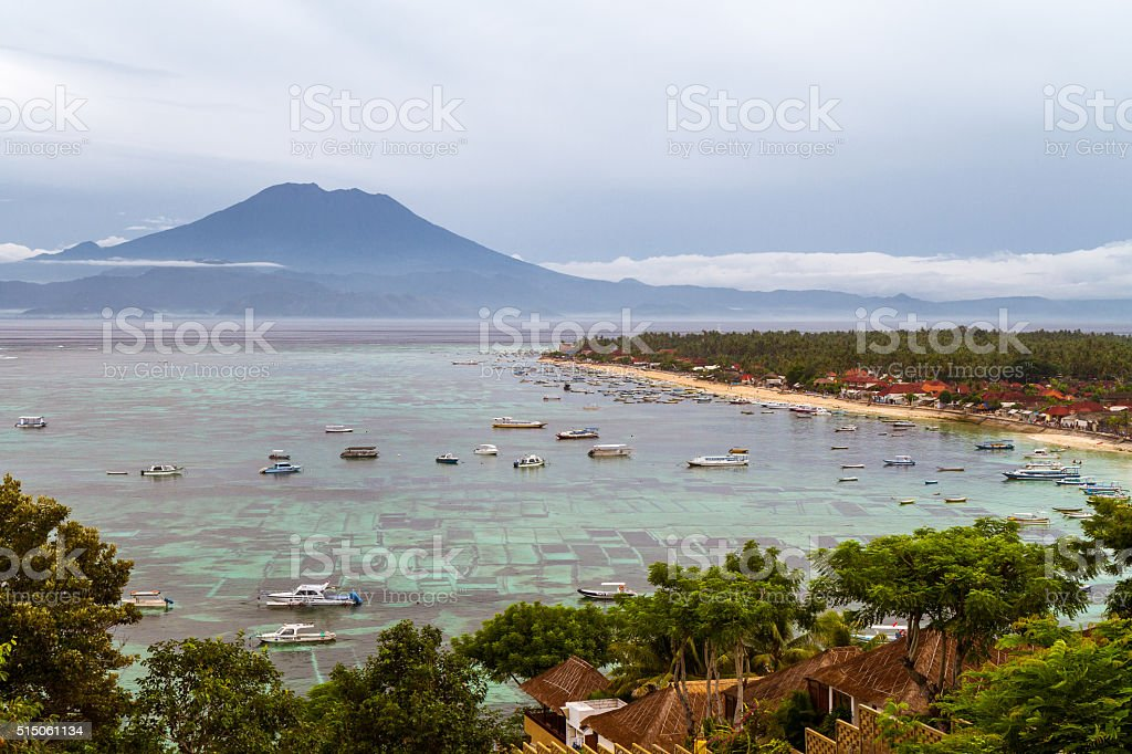 Jungutbatu Bay stock photo