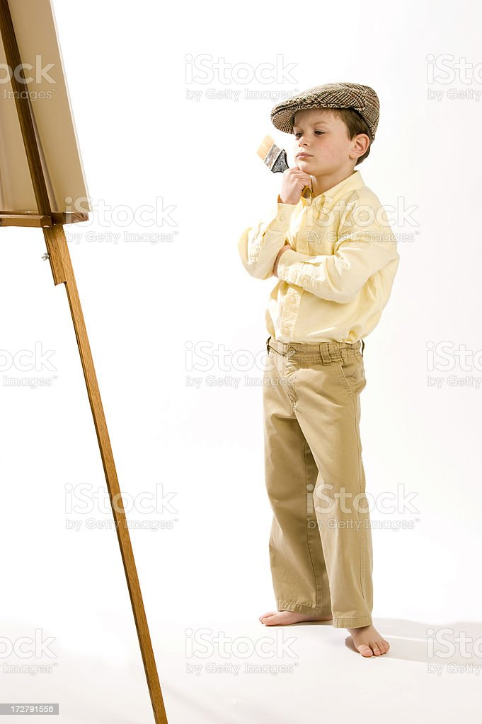 Junior artist stock photo
