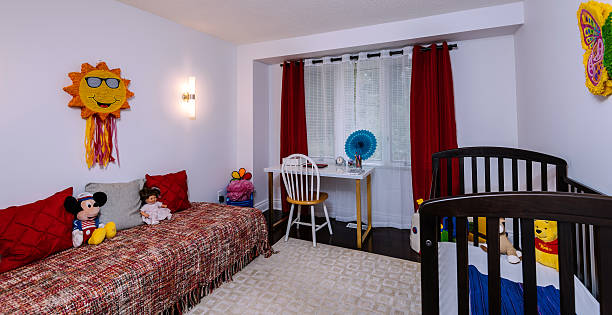 junior bedroom interior - modernes disney stock-fotos und bilder