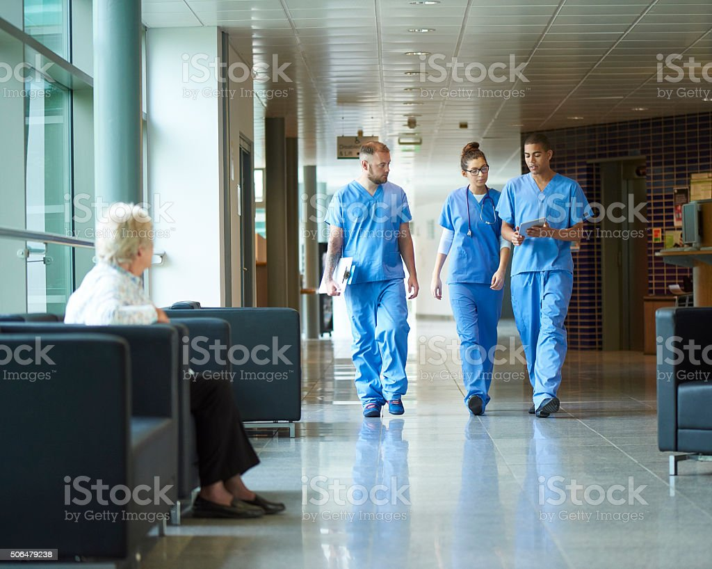 junior doctors stock photo