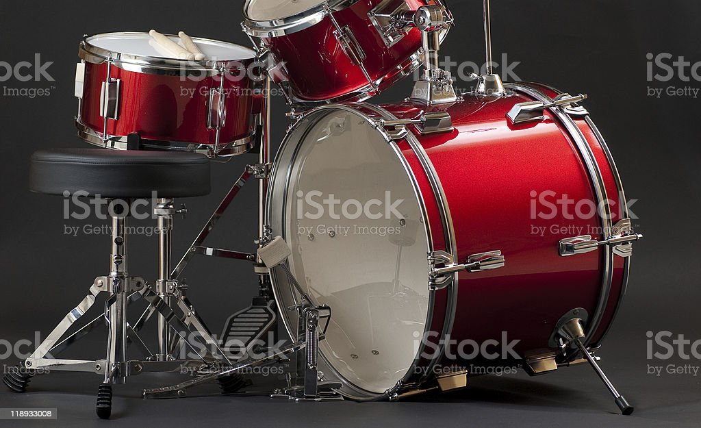 Junior Drum Kit Bottom Half stock photo