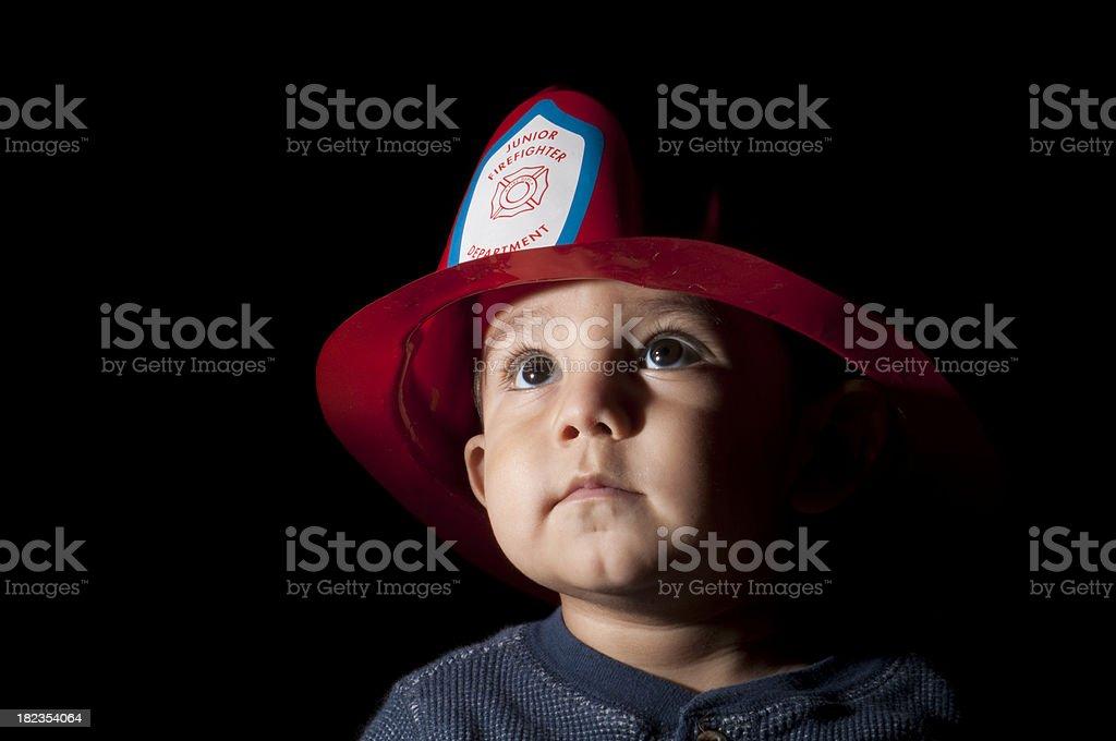 Junior Firefighter stock photo