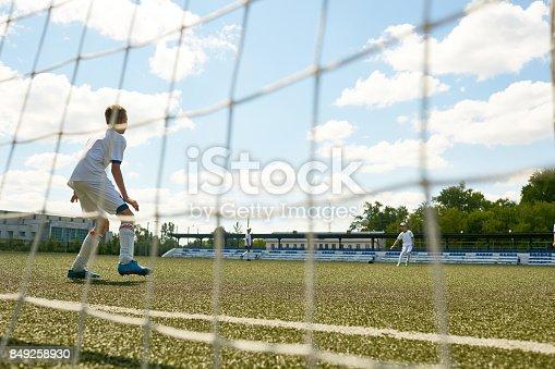 istock Junior Football Team at Practice 849258930