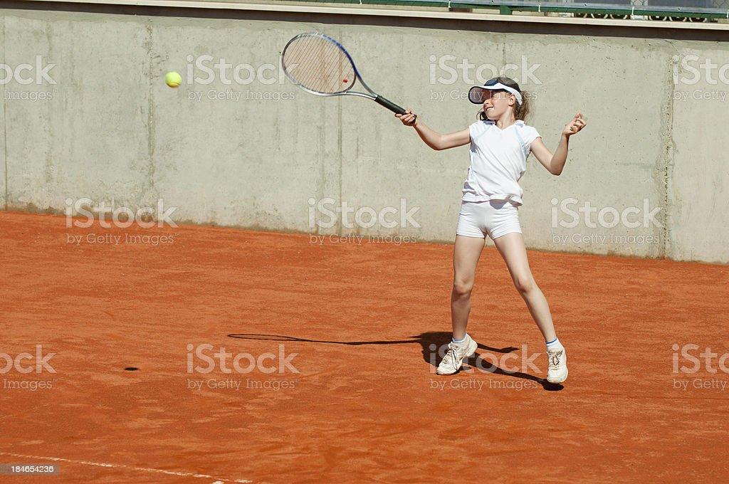 Junior forehand royalty-free stock photo