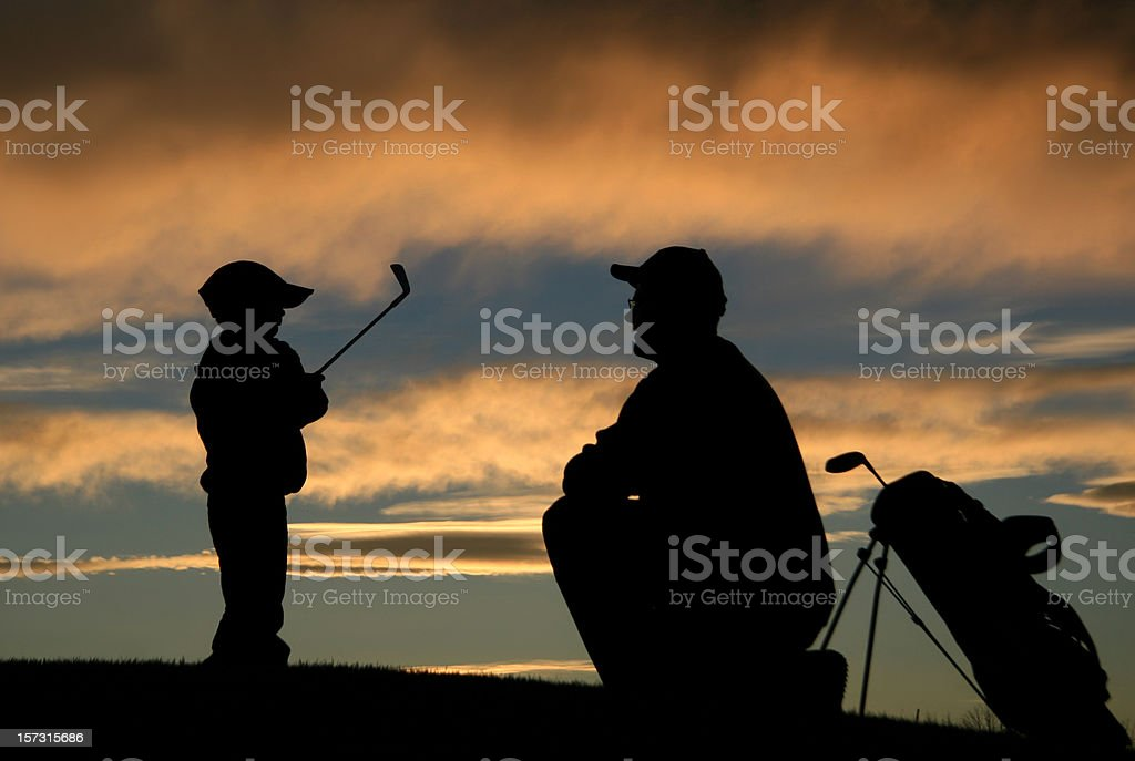 Junior Golf Instructor and Coach royalty-free stock photo