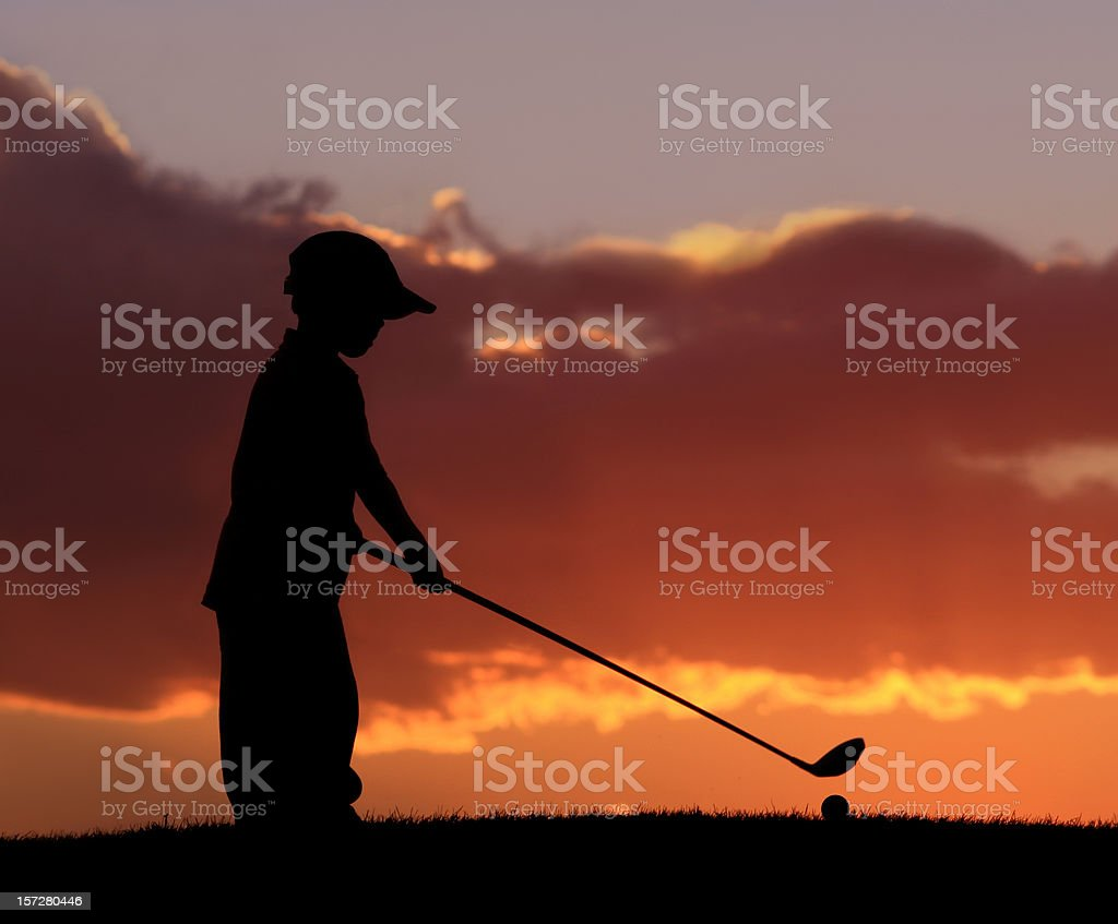 Junior Golfer 2 royalty-free stock photo