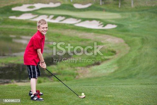 istock Junior Golfer 180698023