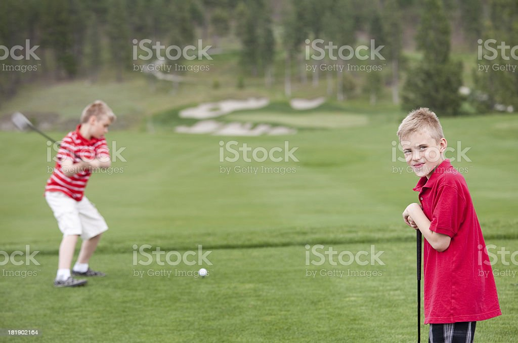 Junior Golfers royalty-free stock photo
