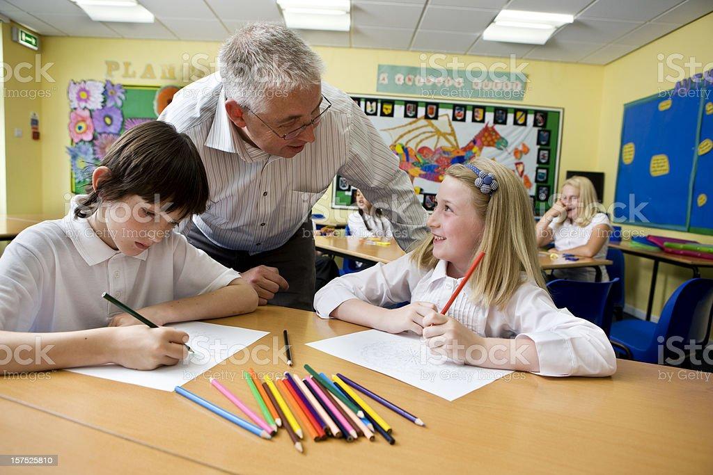 junior school: proud pupil royalty-free stock photo