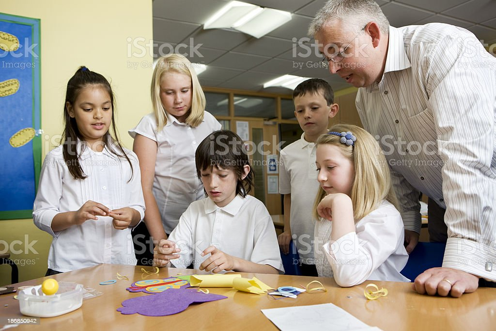 junior school: teaching by example royalty-free stock photo