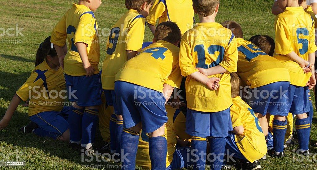 junior soccer team royalty-free stock photo