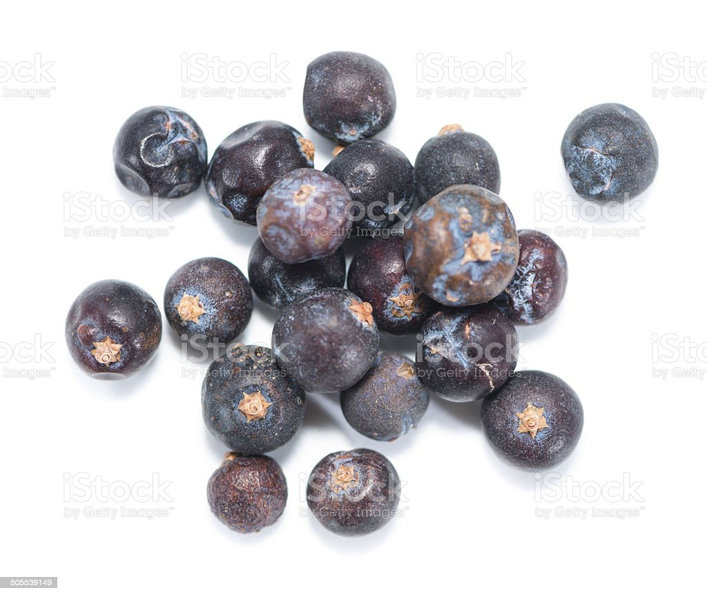 Juniper Berries over white stock photo