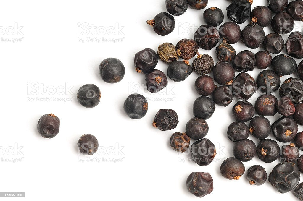 Juniper Berries Scattered stock photo