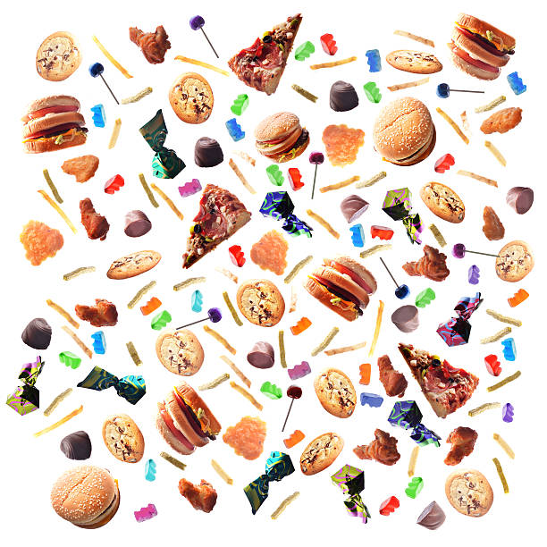 Junk Food Background stock photo
