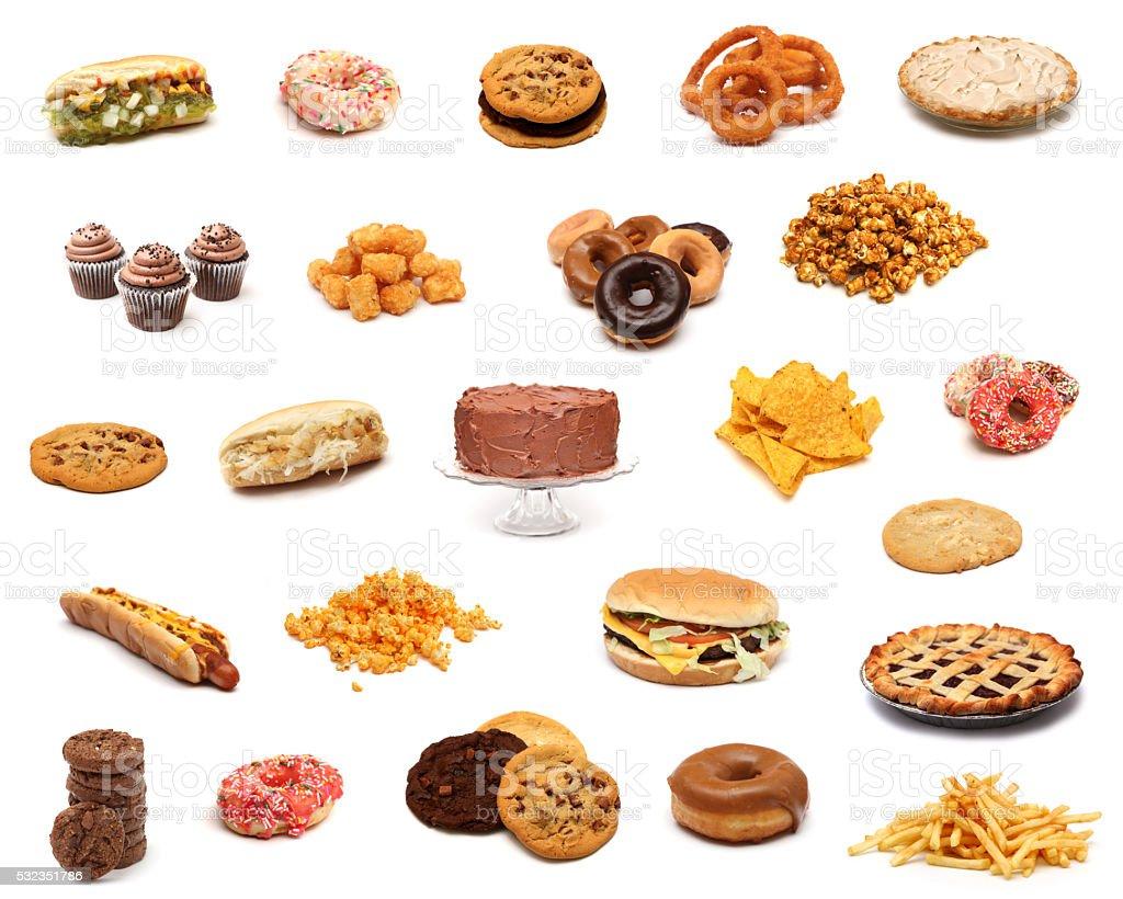 Junk Food stock photo