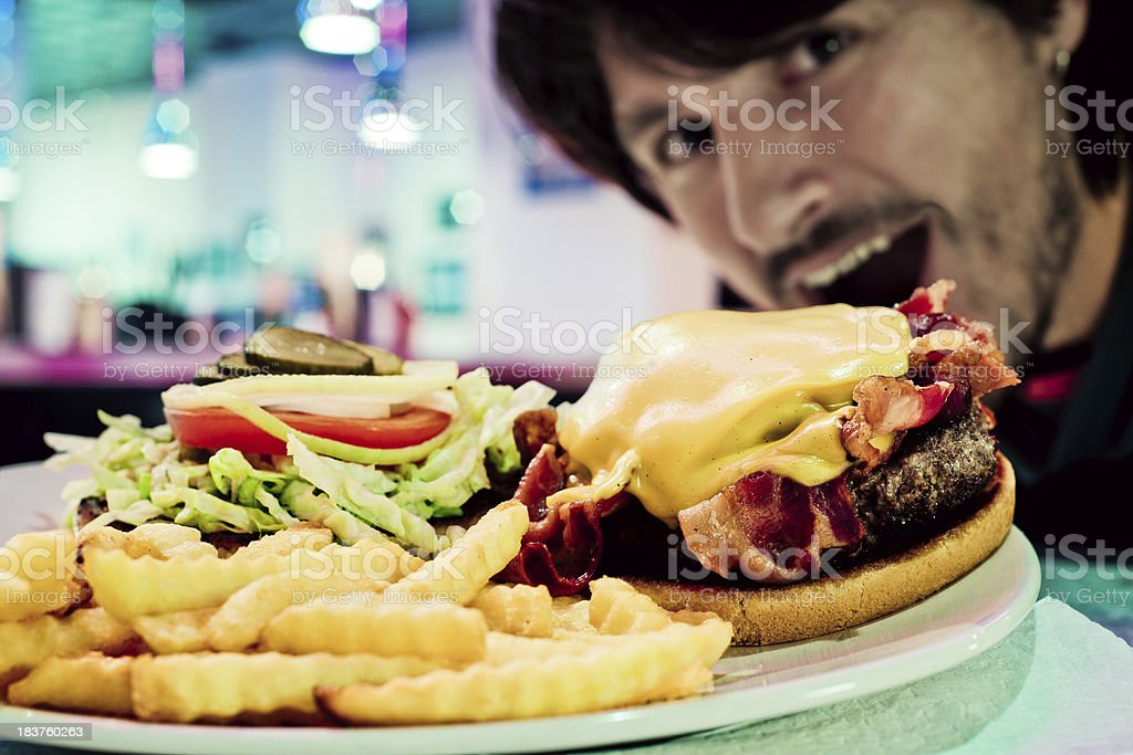 Junk food pleasure stock photo