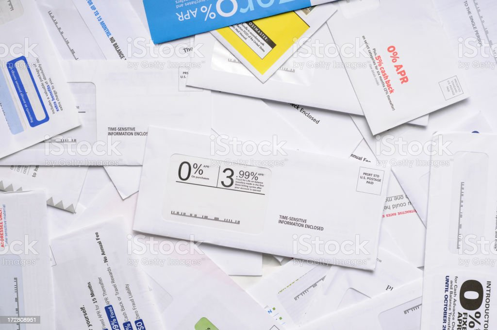 Junk Mail Background stock photo
