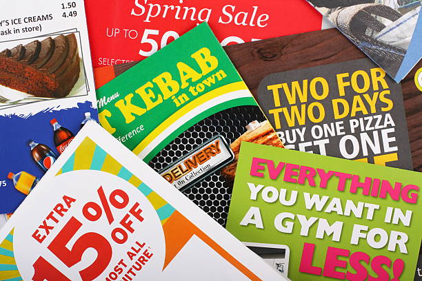 Junk Mail Flyers stock photo