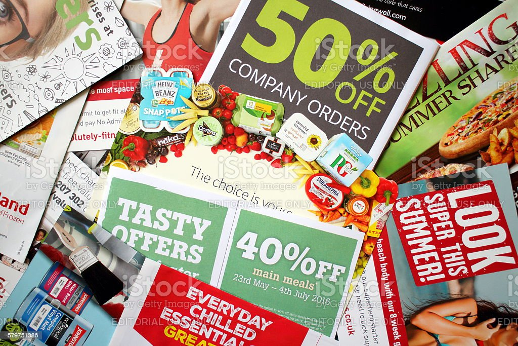 Junk Mail Leaflets royalty-free stock photo