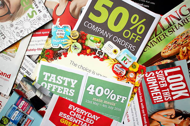 Junk Mail Leaflets stock photo