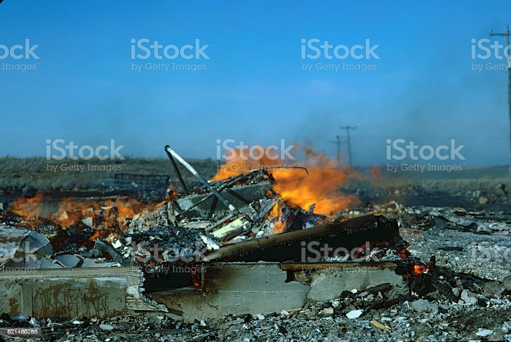 Junk on Fire foto stock royalty-free
