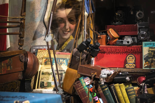 Junk shop at Camden Market in London stock photo