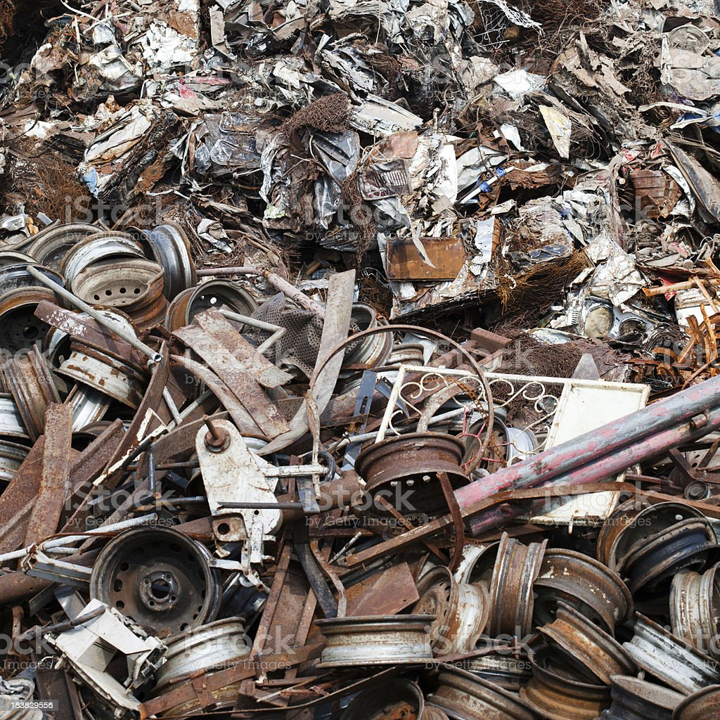 Junk yard royalty-free stock photo