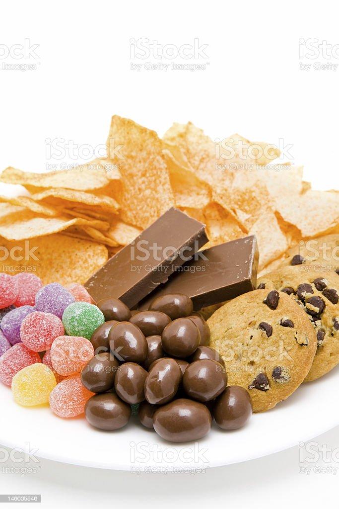 junkfood on plate stock photo