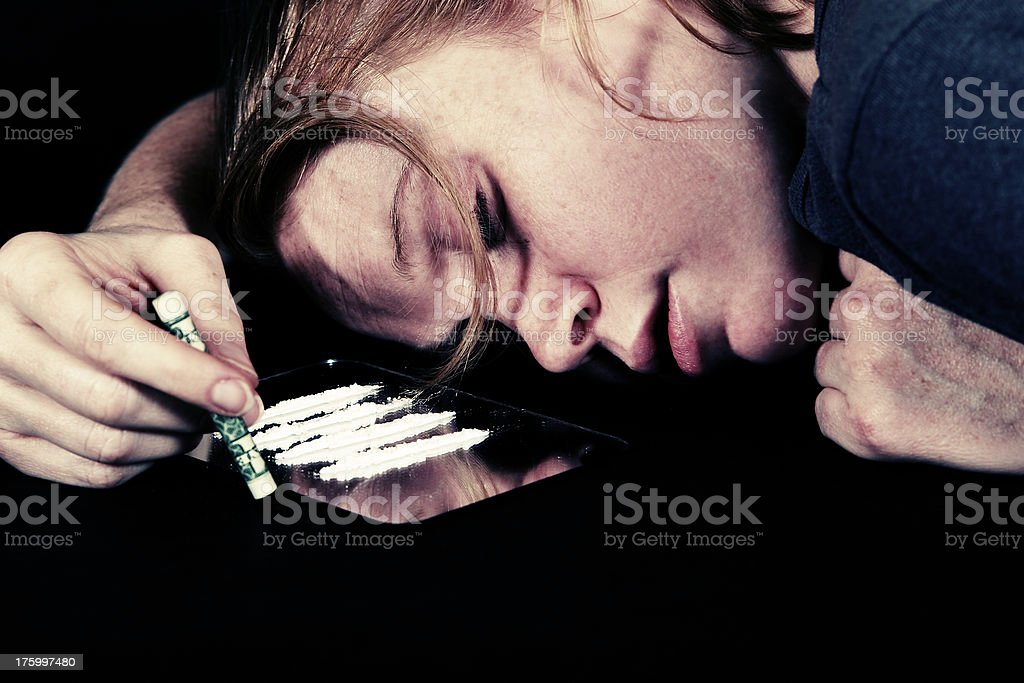 Junkie series: Passed out 5 (bright) royalty-free stock photo
