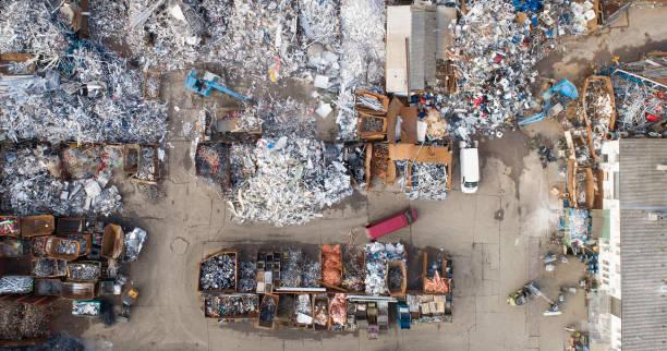 Junkyard-Luftaufnahme – Foto