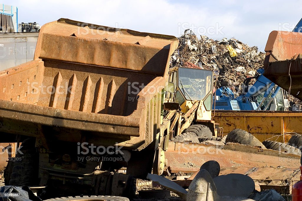 Junkyard lorry royalty-free stock photo