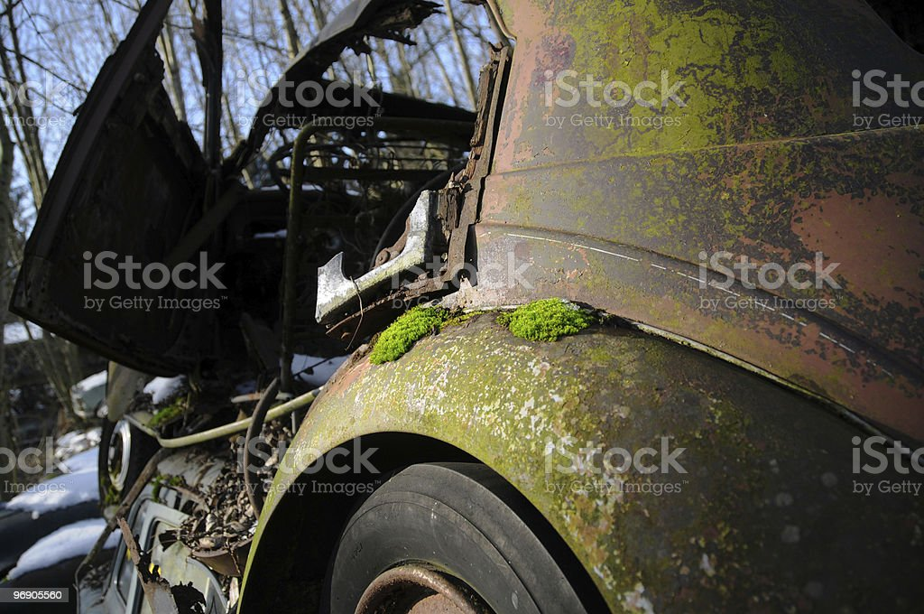 Junkyard royalty-free stock photo