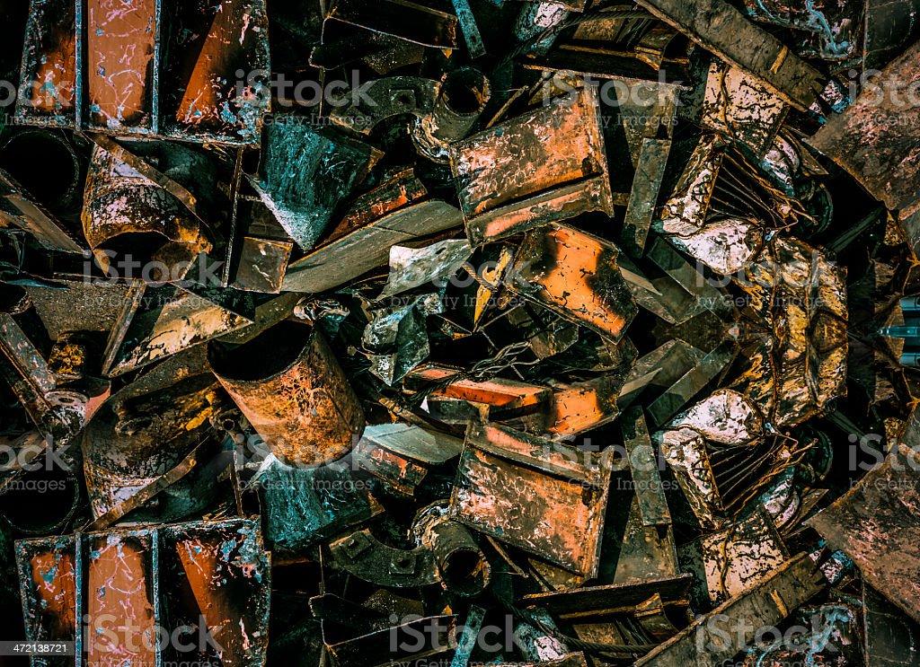Junkyard Scrap Metal royalty-free stock photo