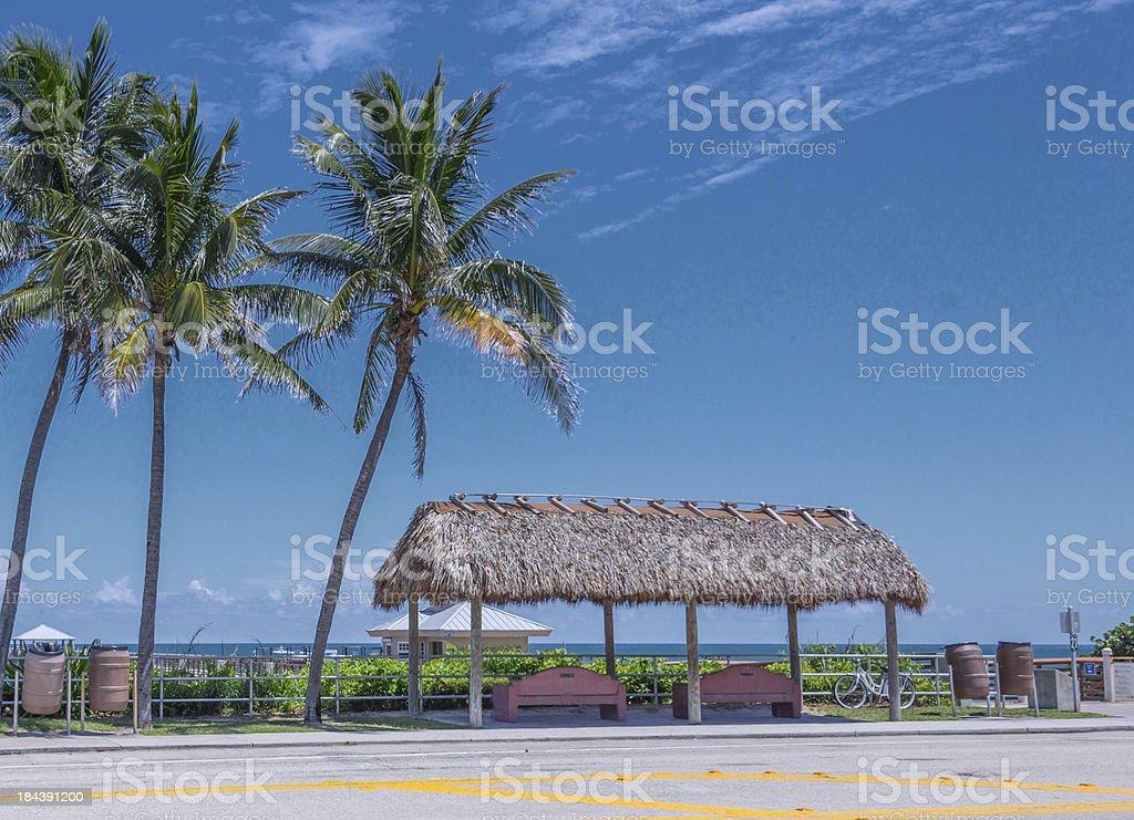 Juno Beach Pier Entrance stock photo