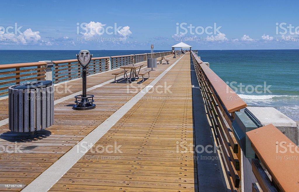 Juno Beach Pier In Florida stock photo