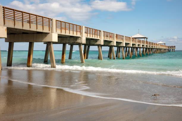 Juno Beach Pier stock photo