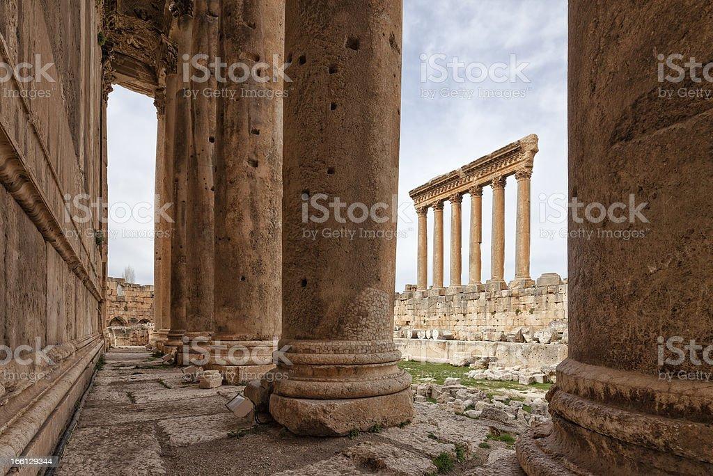 Jupiter and Bacchus Temple, Baalbek, Bekaa Valley, Lebanon stock photo