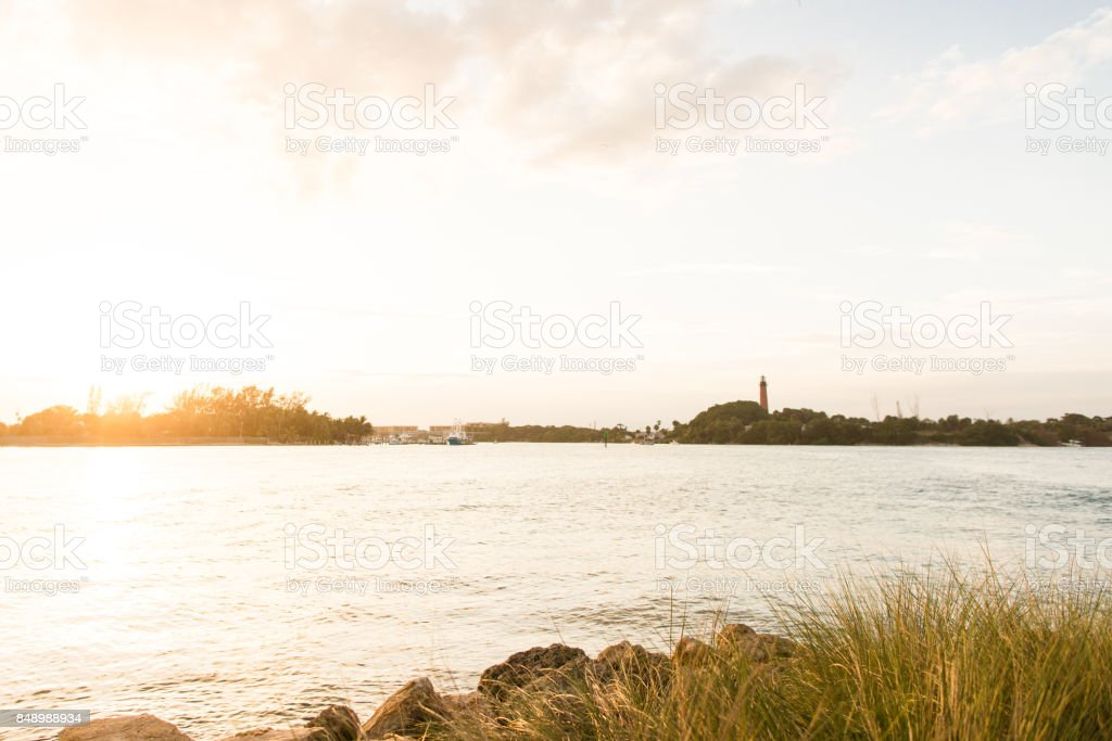 Jupiter, Florida Sunset stock photo