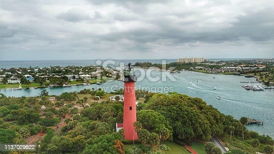 The lighthouse at the Jupiter inlet, Florida
