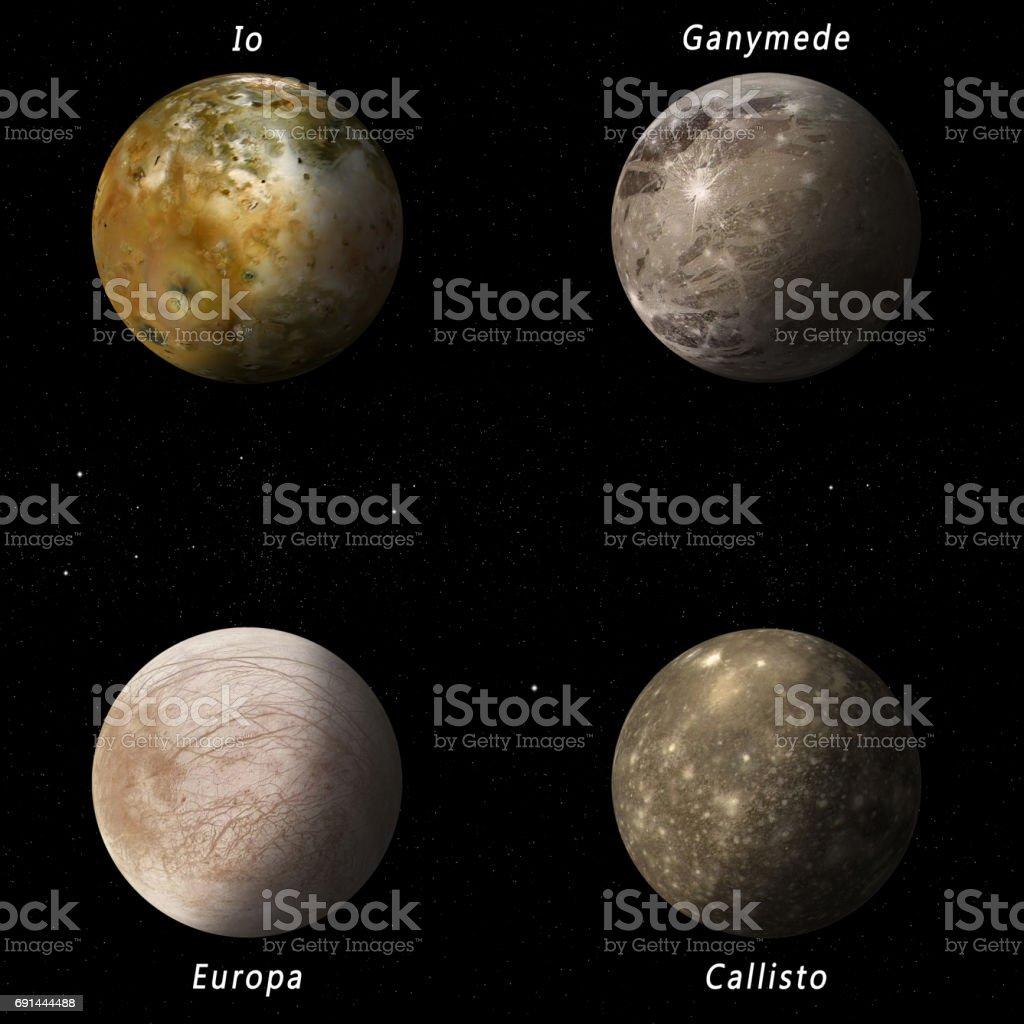 Jupiter Moons stock photo