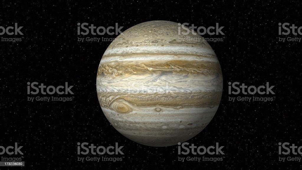 Jupiter auf Star Field (XXXL – Foto