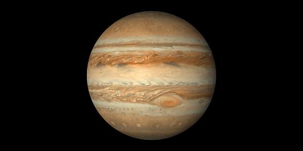 Jupiter planet black background
