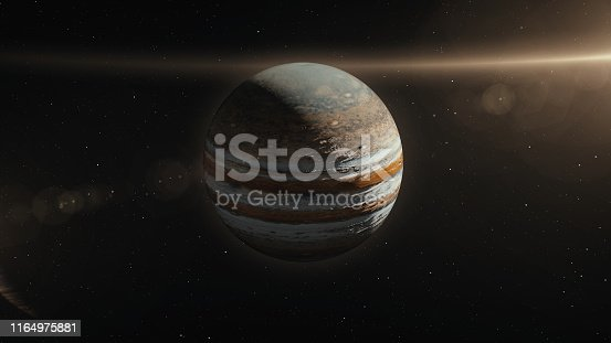 istock Jupiter Planet in Space 3D Illustration 1164975881