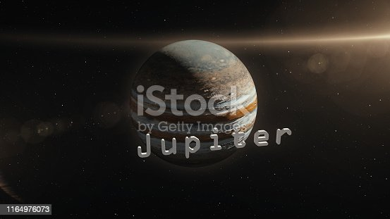 istock Jupiter Planet in Space 3D Illustration 1164976073