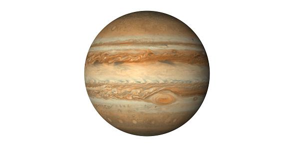 Jupiter planet white background https://svs.gsfc.nasa.gov/12021 made with ADOBE AFTEREFFECT