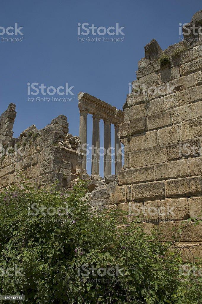 Jupiter Temple, Baalbeck, Lebanon royalty-free stock photo