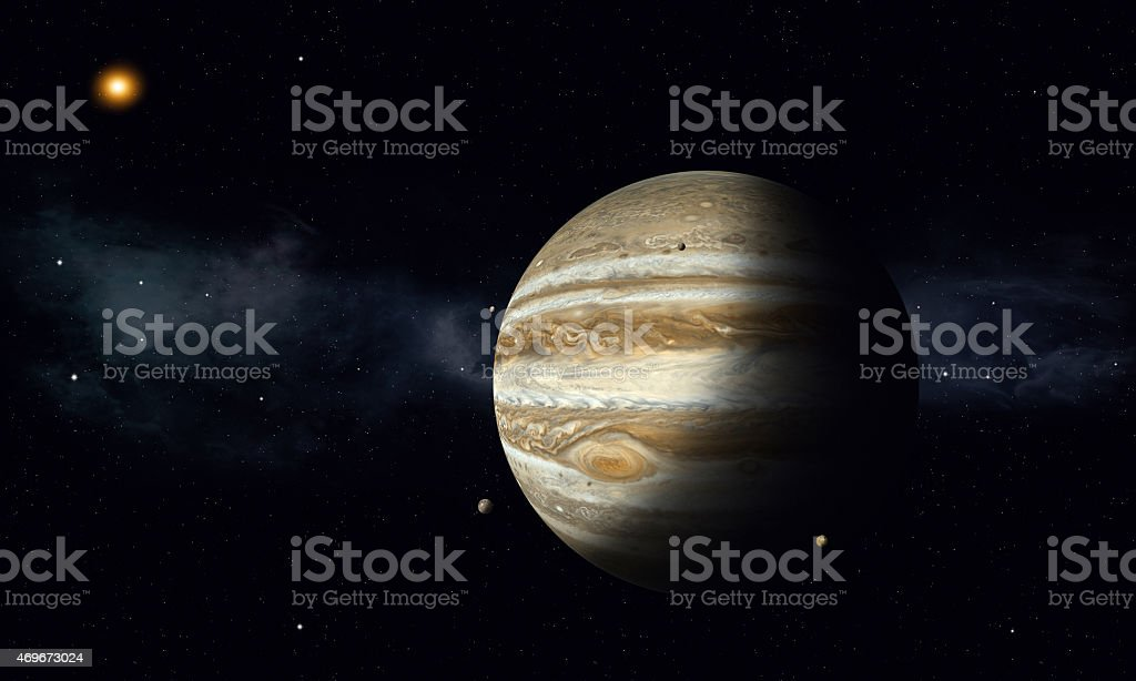 Jupiter with Moons stock photo
