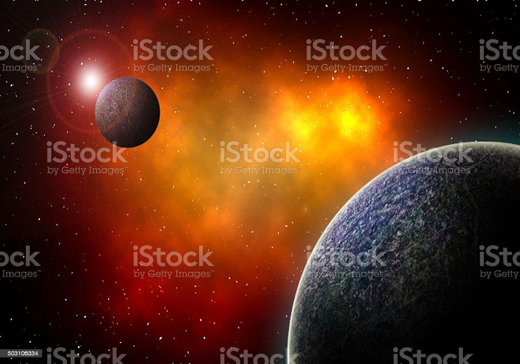Jupiters moons. stock photo