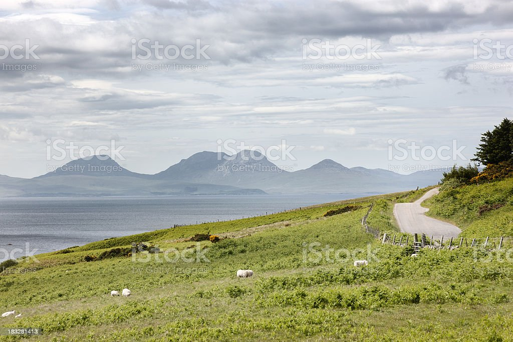 Jura and the Argyll Coast stock photo